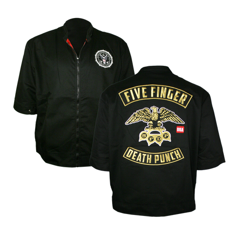 Gold Eagle Seal Short Sleeve Jacket