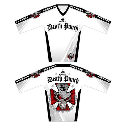 Iron Cross White MotoCross Jersey