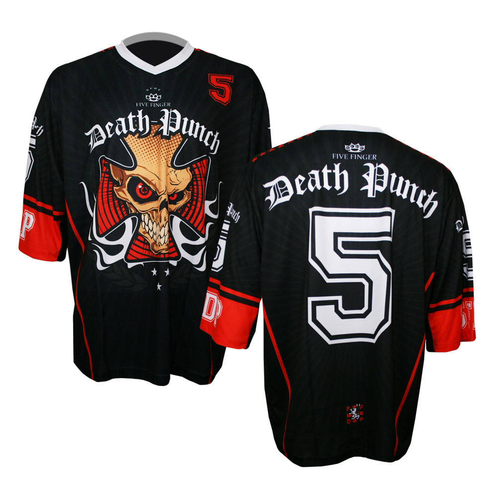 White Neck Iron Cross Black MotoCross Jersey