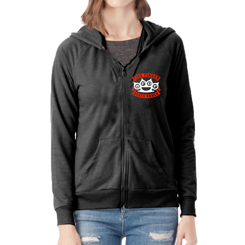 ffeffd93f44 Skull Crest Women s Zip Hoodie – Five Finger Death Punch
