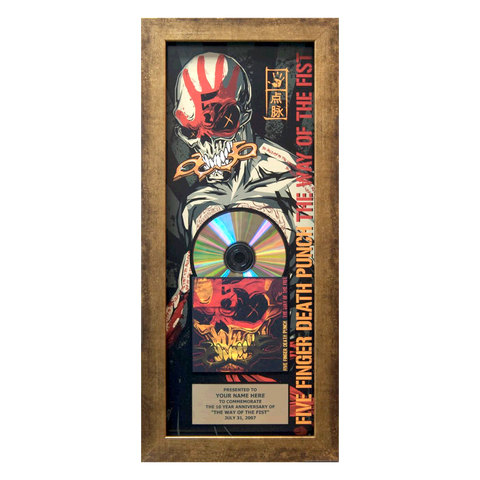 The Way of the Fist 10th Anniversary Personalized Plaque 8x20