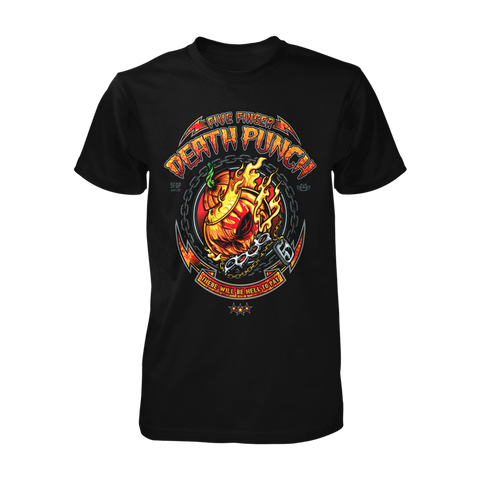 5FDP Burning Pumpkin Halloween Tee