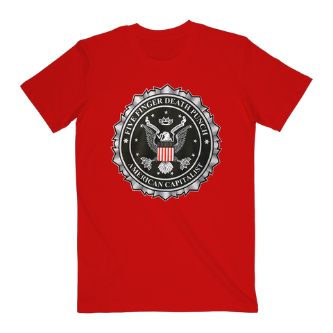 American Capitalist Tee Red