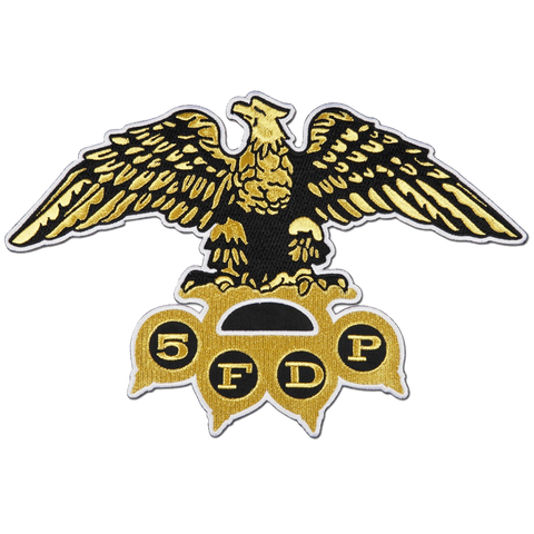 Gold Eagle Knuckles Patch