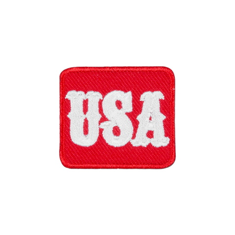 USA Red and White Patch