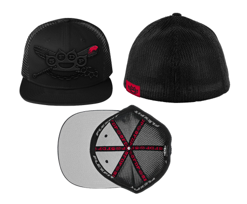 Crossed Bat Machette Flexfit Trucker Hat