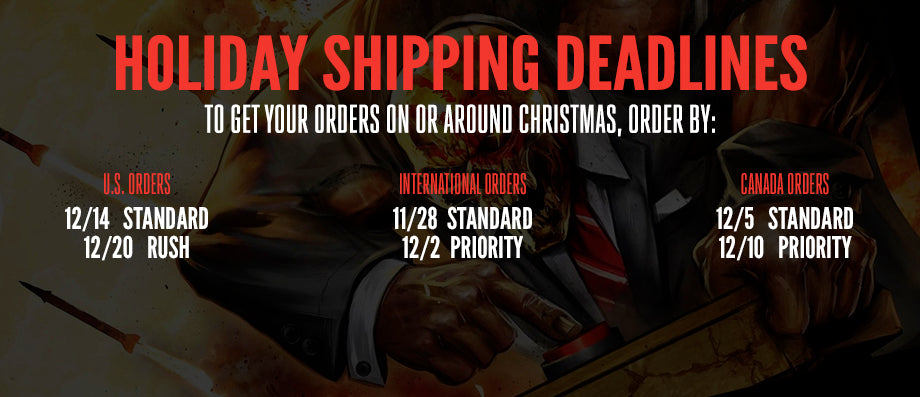 Shipping Deadlines for Five Finger Death Punch