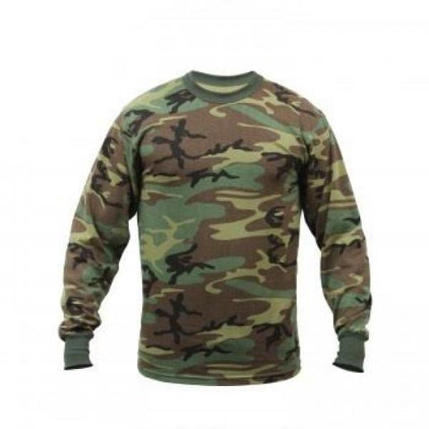 Long Sleeve T-Shirt Woodland Camo - Shop Cousins