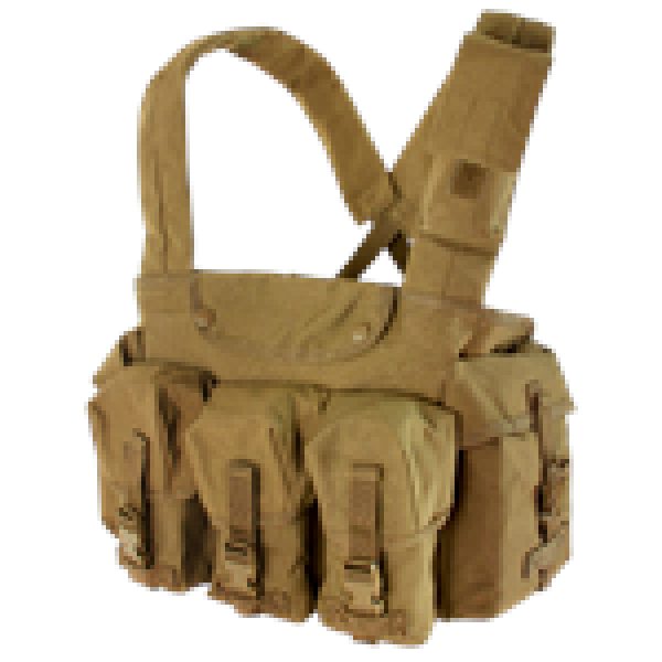 Condor Seven Pocket Chest Rig Coyote Brown - Shop Cousins