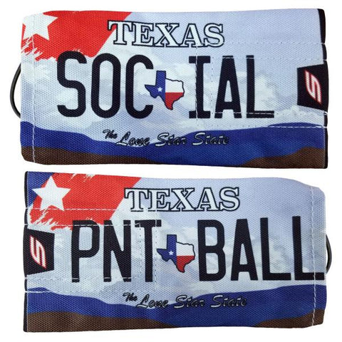 Social Paintball Barrel Cover Texas License Plate