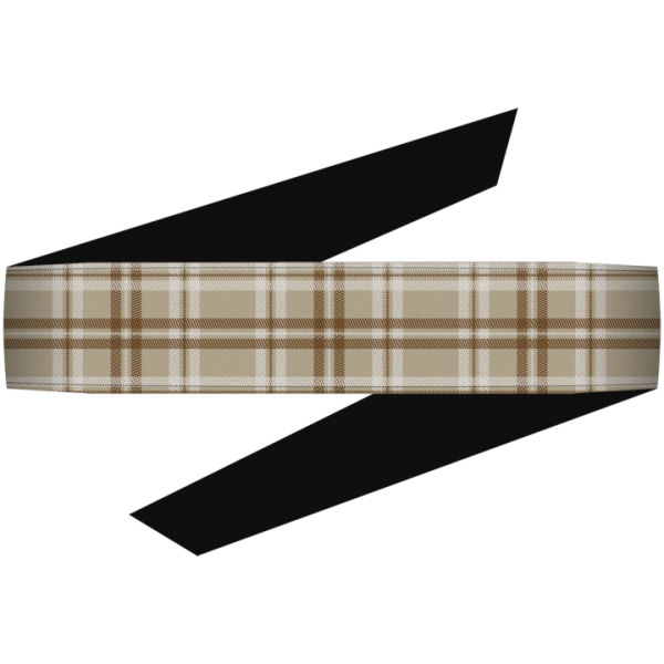 Dyzana Headband - Plaid Khaki