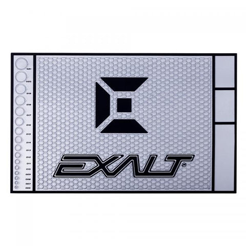 Exalt  HD Rubber Tech Mat - Silver/ Black