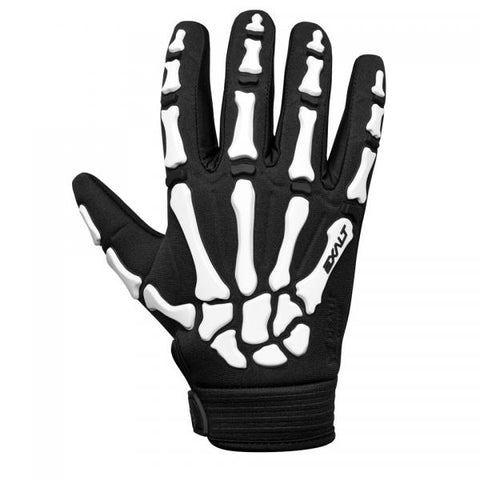 Exalt Death Grip Gloves Full Finger  Black/ White Medium