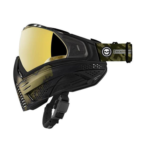 Push Unite Paintball Mask Infamous Limited Edition Gold Skull