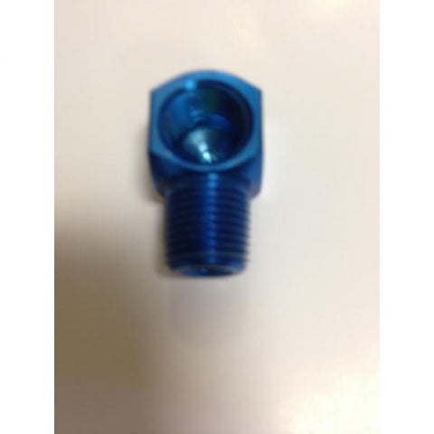 90 degree Aluminum Elbow - Blue