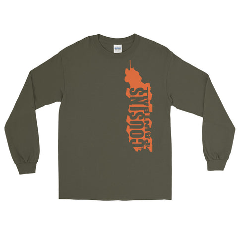 Sketchy Long Sleeve Tee Olive