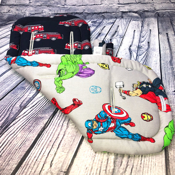 Universal REVERSIBLE Pram Liner With STRAP COVERS