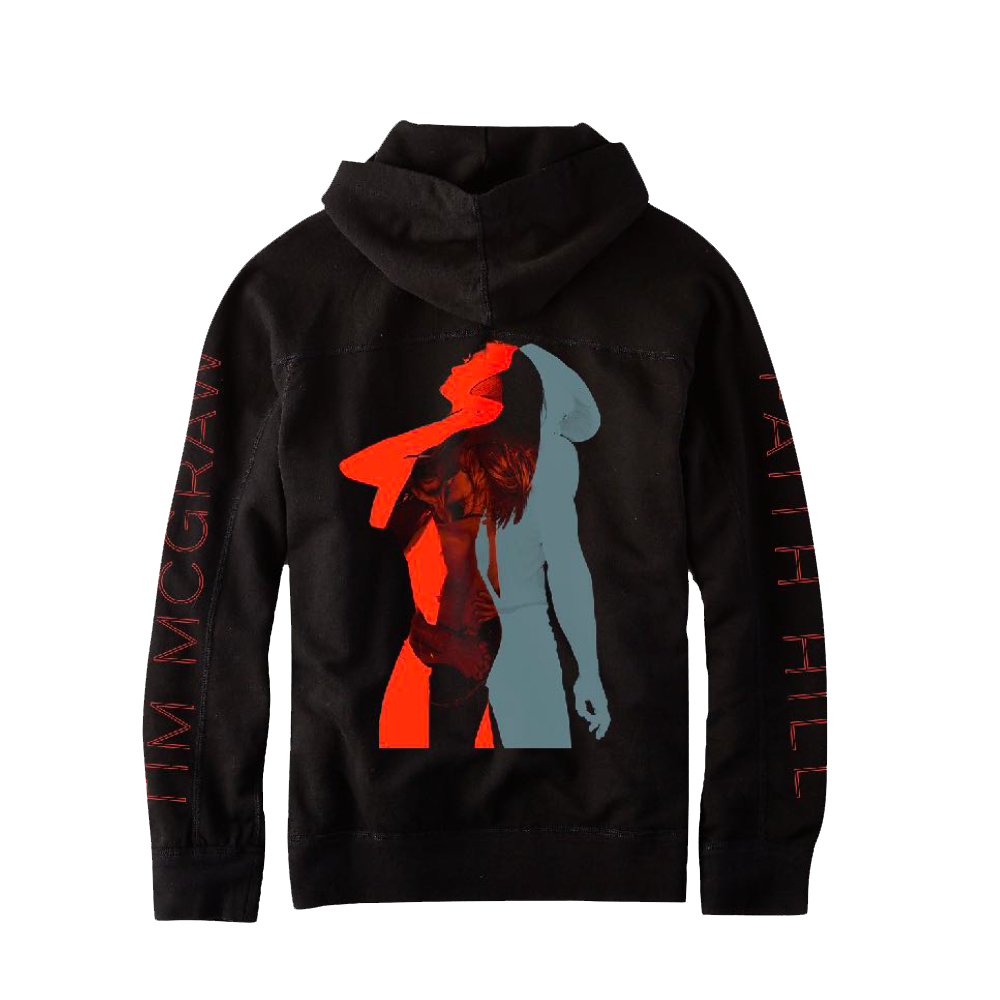 Tim & Faith Black Red Hoodie