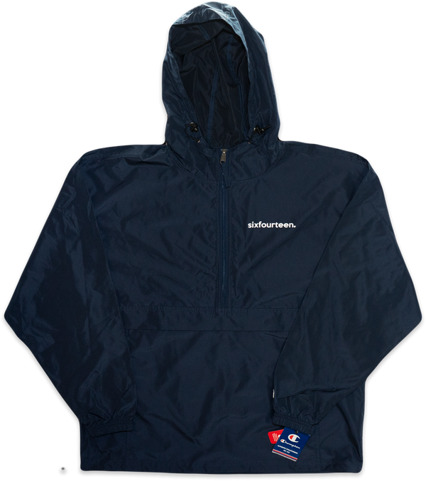 navy blue windbreaker jacket