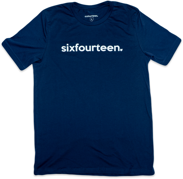 classic t shirt navy blue and white