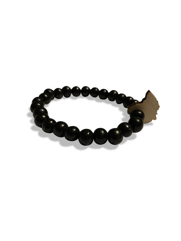ohio wooden bracelet black