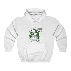 TEBB Departures Unisex Heavy Blend™ White Hooded Sweatshirt