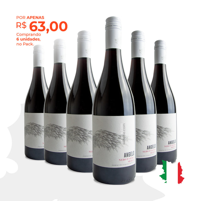 Pack com 6 Angelo Nero d Avola 2018 750ml