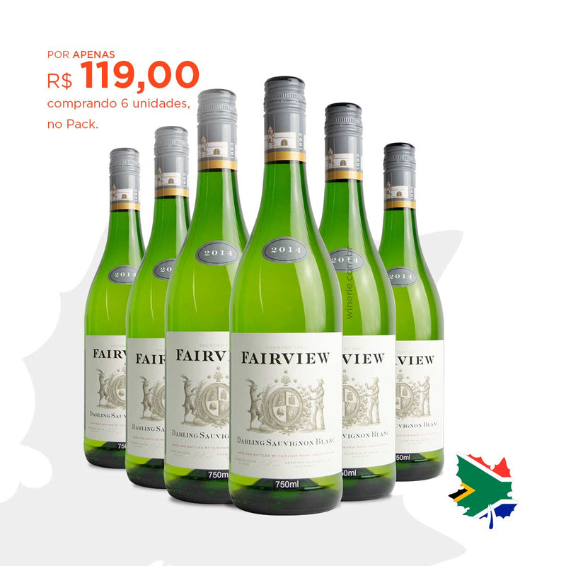 Pack com 6 Fairview Darling Sauvignon Blanc 2014 750ml