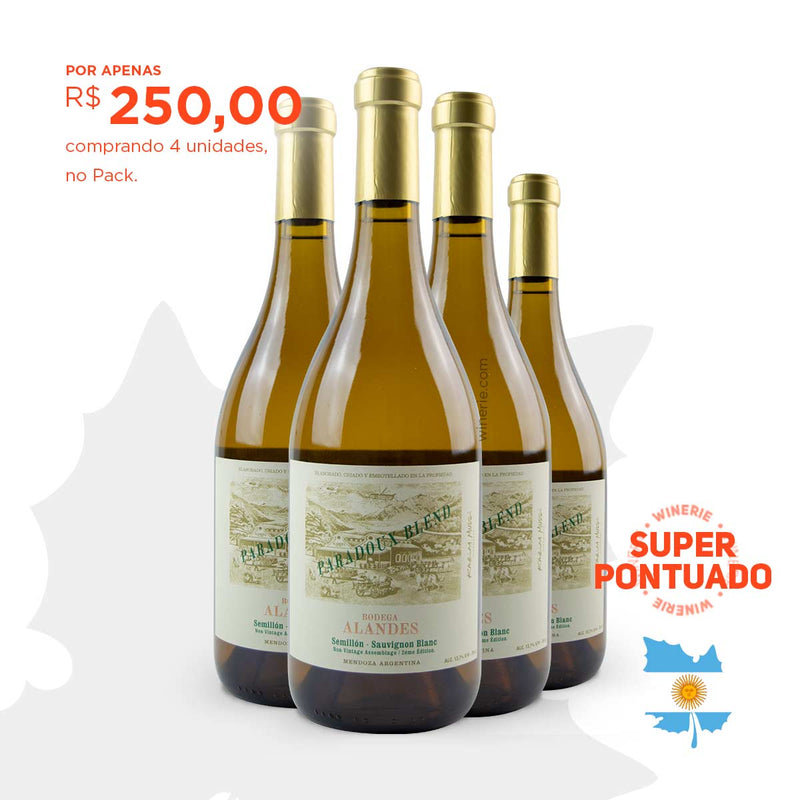 Pack com 4 Alandes Paradoux White Blend 2 Edition 750ml