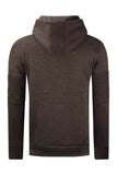 New Men Biker Fleece Hooded Jacket Sweater