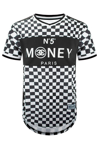 New Money Checkered Longline Jersey