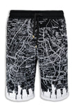 New Men Fleece Shorts Manhattan New York Map Print Builds Short L XL 2XL 3XL