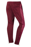 New Men Quilted Side Ankle Zipper Jogger Pants Slim Fit