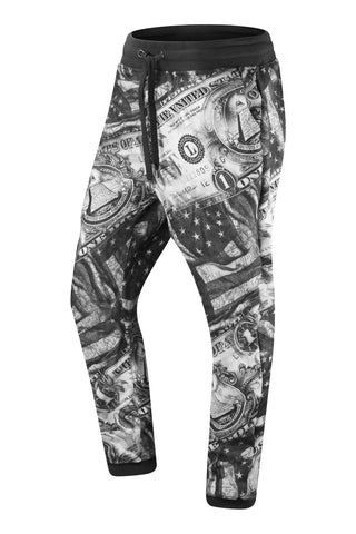 New Men Fleece Cash Money USA Joggers