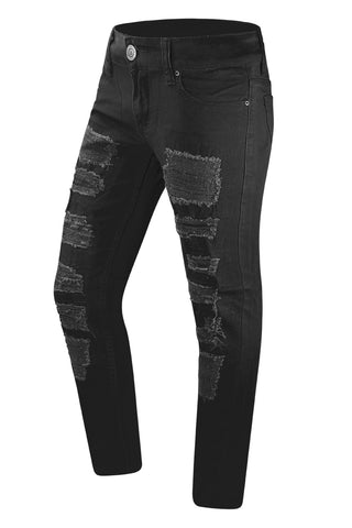 NEW Men Denim Ripped Distressed Stretchy Jeans