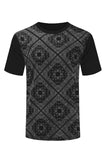 NEW Men Bandana Print Short Sleeve Shirt Short Sleeve Shirts Sizes S-2XL 3 Color