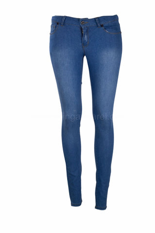 NEW Low Rise Women Skinny Jeans Pants Denim Rinsed Blue Pant Harem Ripped 6040
