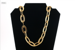 "New Large Stainless Steel Necklace Gold Chain 27"" Length"
