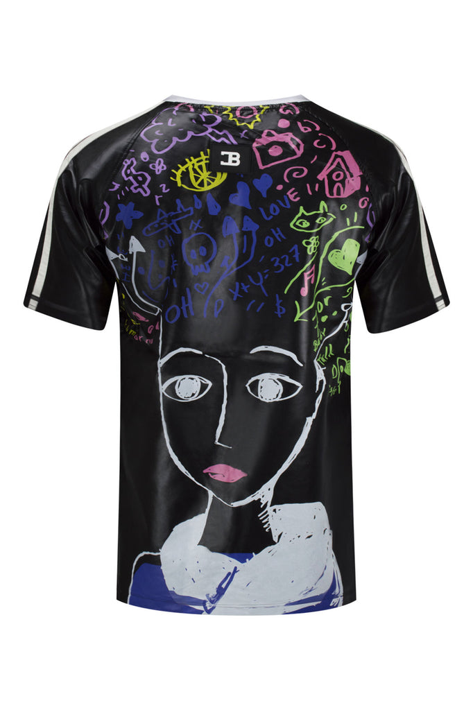 NEW Men Coke Boys Shirt Black Stars Short Sleeve Comic Blue Art Size S-3XL