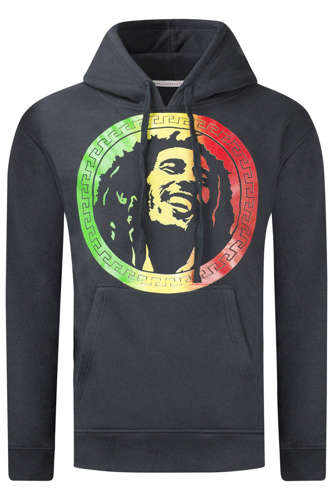 New Men Hooded Bob Marley Pullover Sweater