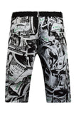 NEW Men Cargo Camo Shorts Black White Sizes 32 34 36 38 40 42 FREE BELT