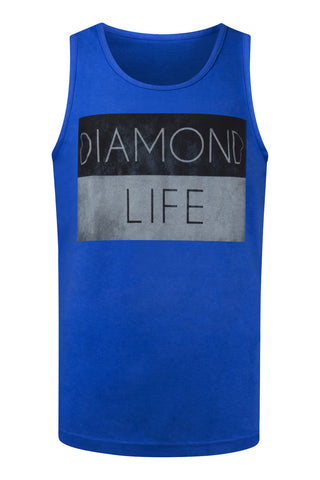 NEW Men Diamond Supply Co Life Tank Top Blue Sizes S M L XL 2XL Royal Young