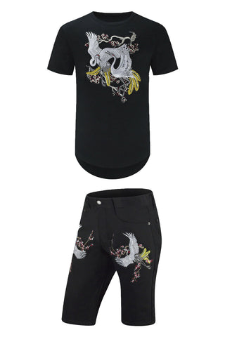New Swan Bird Embroider Outfit