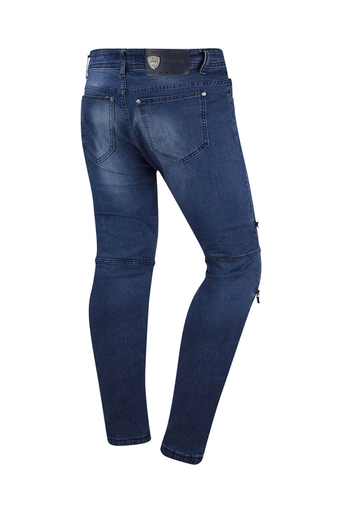 New Men Premium Denim Blue Jeans Straight Fit