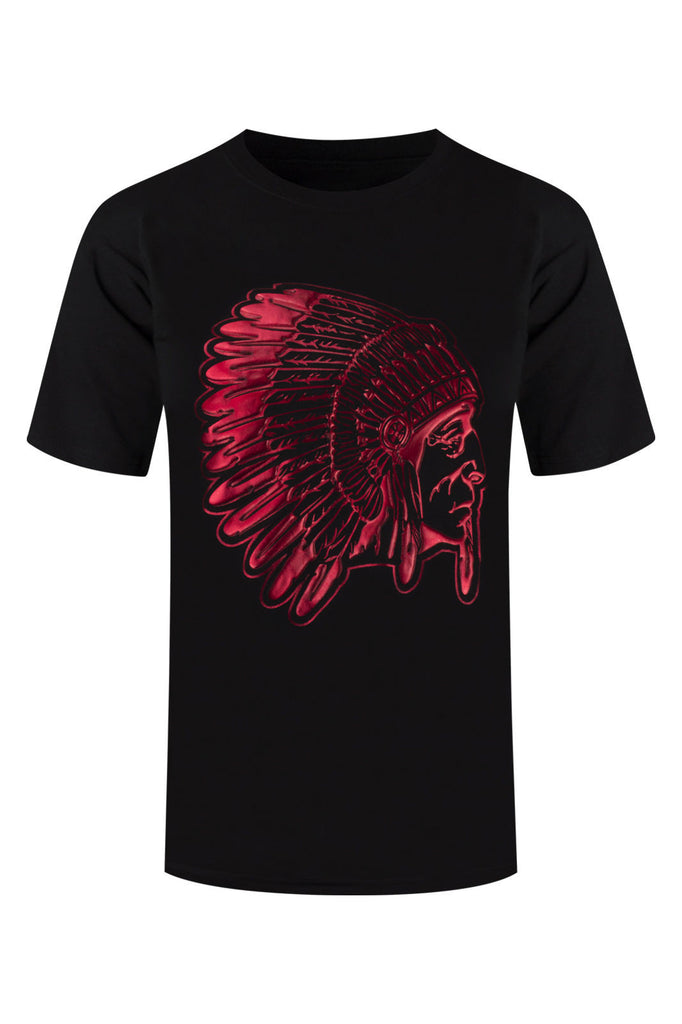 NEW Men Chief Red Blood 3D Shirt Sizes M-4XL Native American Indians Short Sleev