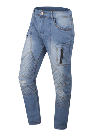 New Men Biker Distressed Premium Denim Jeans