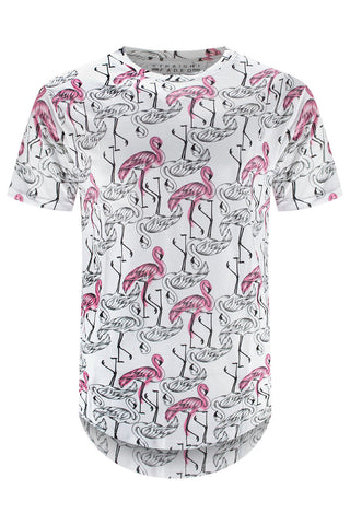 New Men Flamingo Pond T-Shirt