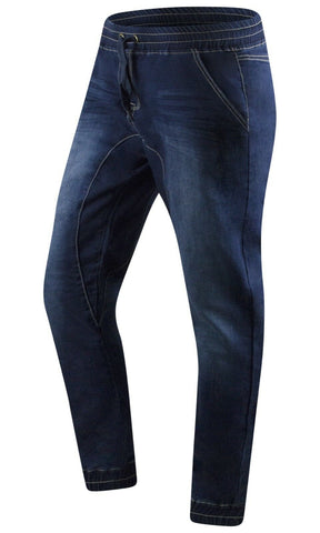 New Elastic Denim Blue Jogger Pants