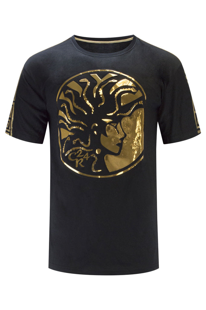New Men Gold Foil Medusa T-Shirt
