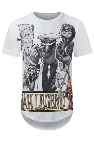New Men I Am Legends White T-Shirt